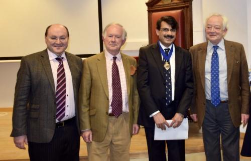 Mr C Zammit, Dr J Rees, Prof S W Yusuf, Mr R Gumpert (past Presidents)